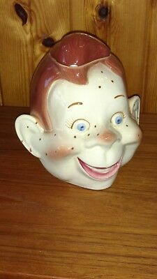 AS IS Purinton Pottery 1950's Howdy Doody Show Cookie Jar Head TV Character