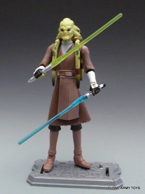STAR WARS Kit Fisto CW23 JEDI MASTER THE CLONE COLLECTION TCW SOTDS LOOSE