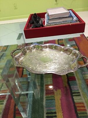 Antique Footed Serving Tray Regency