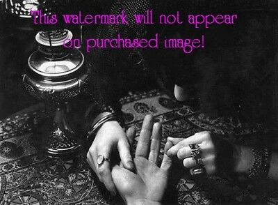 Old VINTAGE Antique PALM READING Fortune Teller GYPSY Photos Photographs Reprint