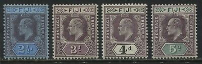 Fiji KEVII 1903 2 1/2d to 5d mint o.g.