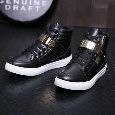 Men's Casual Ankle Boots High Top Loafers Sneakers Shoes Stylish Jian