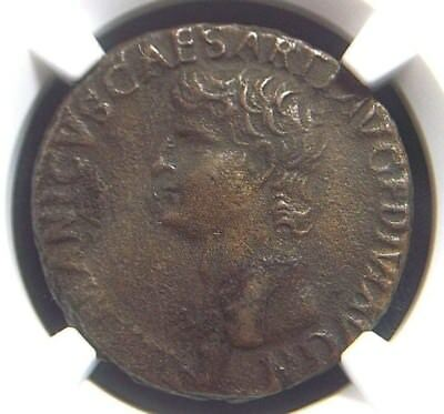 AE As of Roman General Germanicus , Large SC reverse 19 AD  NGC XF  9001
