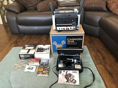 Vintage Canon Super 8 Cine Camera Chinon 8000 8mm Projector Lens Full Kit Boxed