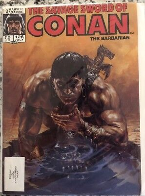 The Savage Sword Of Conan 126 in near mint condition