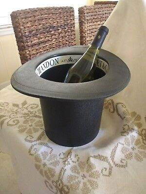 Champagne Moet & Chandon ice bucket - Vintage from PARIS 60's -  Top Hat style