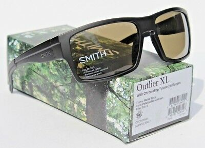 a140e453a1 SMITH OPTICS Outlier XL POLARIZED Sunglasses Matte Black Gray Green  ChromaPop