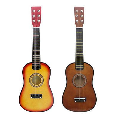 23'' 6 String Acoustic Guitar with Pick Strings Musical Toy Gift for Kids