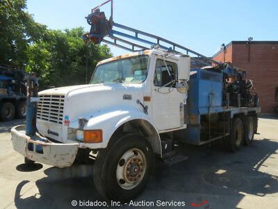 International 4900 Flatbed Stakebed Truck CME Drill Rig Navistar - Parts/Repair