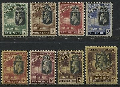 Gambia  KGV 1922-27 various values to 1/ mint o.g.