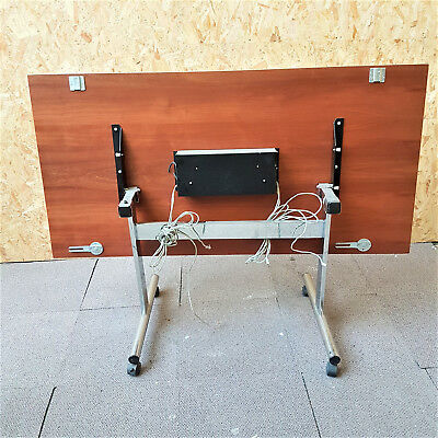 Sturdy Office Folding meeting conference table locking castors+cable access hole
