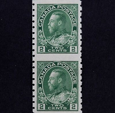 Canadian Stamp, Scott #128A 128 F/VF Hinged 2 Cent, 2nd Printing Imperfect Pair