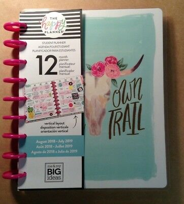 "NEW! me & my big ideas 2018-19 CLASSIC STUDENT PLANNER ""BLAZE YOUR OWN TRAIL"""