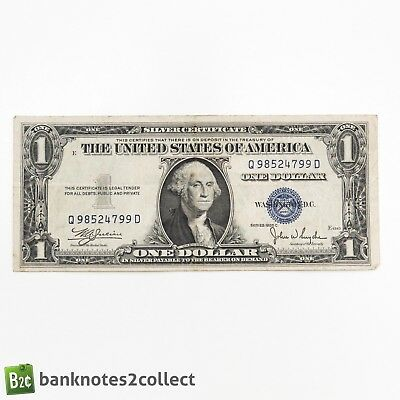 USA: 1 x 1 1935 C US Dollar Silver Certificate Banknote.