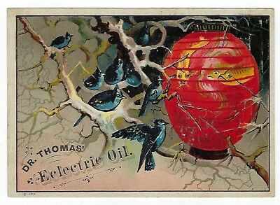 Dr. Thomas Eclectric Oil late 1800's medicine trade card #B- Tiro, OH-F. Jeffrey