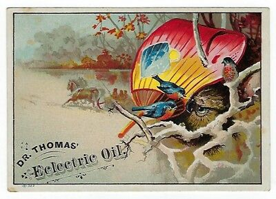 Dr. Thomas Eclectric Oil late 1800's medicine trade card #C - Tiro, Ohio