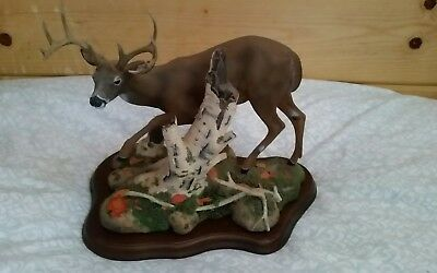 """Danbury Mint Whitetail Deer """"One More Step"""" by Nick Bibby"""