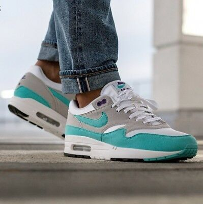 hot sale online 9b84a 58bb8 Men s Nike Air Max 1 Anniversary Aqua Sneakers size 11