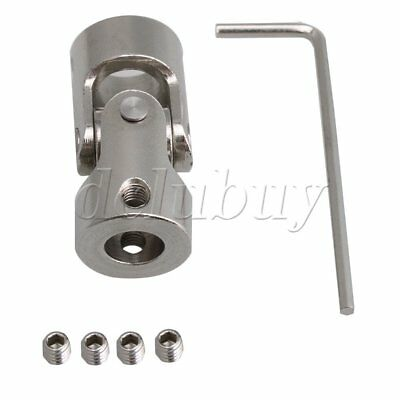 35mm Long ID 8-10mm Steel Rotatable Universal Joint Connector Coupler