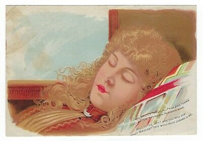 St. Jacobs Oil late 1800's HOLD-TO-THE-LIGHT medicine trade card
