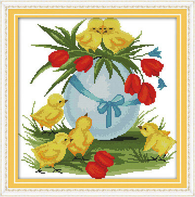 Joy Sunday Counted Cross Stitch Kit 14CT 11CT Printed 17*14in Embroidery Fabric