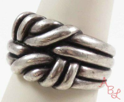 Sterling Silver Vintage 925 Beautiful Knot Design Ring Sz 7 (8.7g) - 730599
