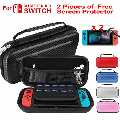 Carbon Fiber Hard Shell Carry Case Travel Bag Protector For Nintendo Switch