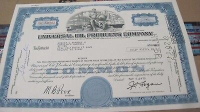 1975 Universal Oil Products Co. OLD CANCELED STOCK CERTIFICATE