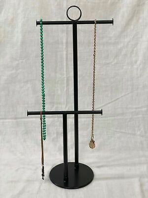2 Tier Tbar Tall Jewelry Stand Necklace Bracelet Tree Display Holder Gift Br2 Bk