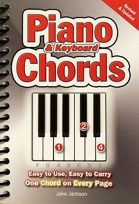 Piano & Keyboard Chords By Jake Jackson (2012, Spiral Bound, Revised & Updated)