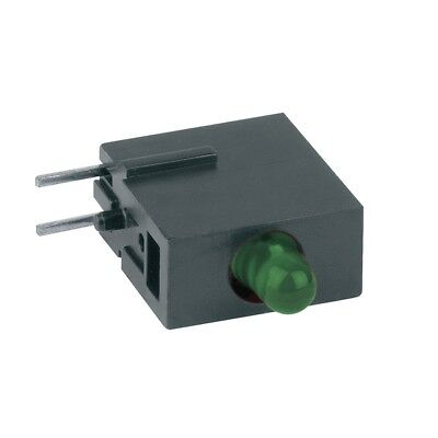 1x 1808.8031 Diode LED in housing 3mm THT green 10-20mcd 40° Front MENTOR