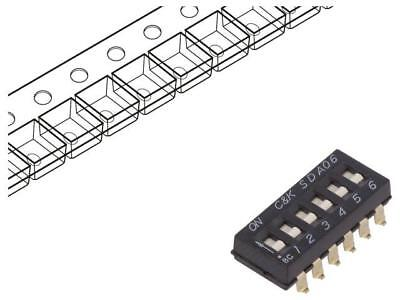 SDA06H0SBR Switch DIP-SWITCH Poles number6 OFF-ON 0.025A/24VDC 100MΩ