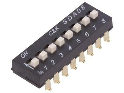 SDA08H1SBD Switch DIP-SWITCH Poles number8 OFF-ON 0.025A/24VDC 100MΩ