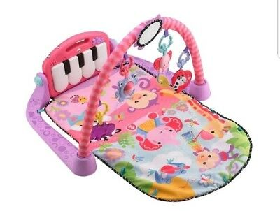 Fisher-Price Kick And Play Piano Gym In Pink.