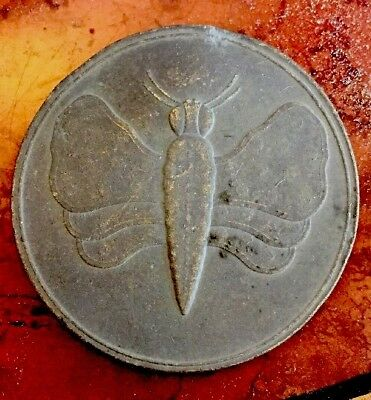 Ancient Dragon Fly & Kings Crown Bronze Medallion 300 Yeas Old + DragonFly Coin
