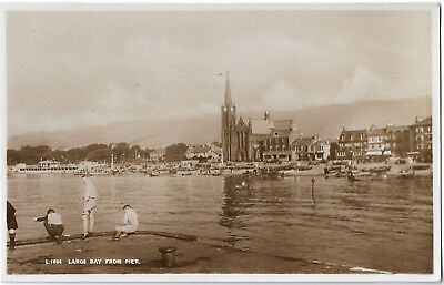 Scotland Largs Bay From Pier Real Photo Vintage Postcard 14.5
