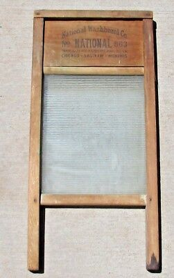 Vintage National Washboard Co. 1940's Lingerie Washboard No. 863