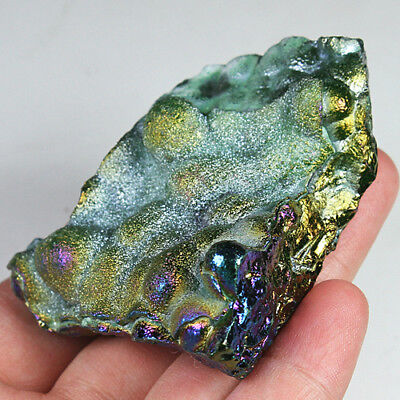 296.7CT Natural Collectible Mystic Agate Geode Cluster Specimen Rough UYEG240