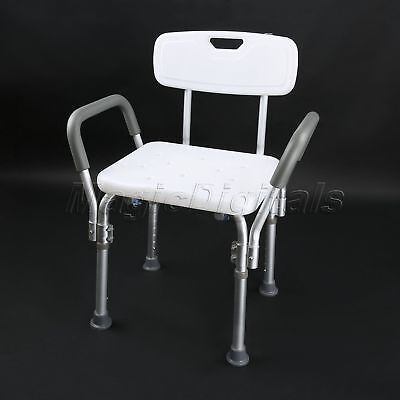 Easy assemble Anti-slip 49x29cm Wide seat &Handle & Backrest Square Shower Chair