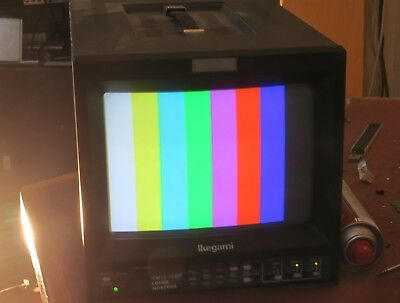 Ikegami tm-1019rp 10inch colour monitor with composite and component rgb. mains