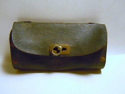 ANTIQUE VINTAGE TOOL BAG FOR BIKE BICYCLE urich tire tools nos with box bag 6 in