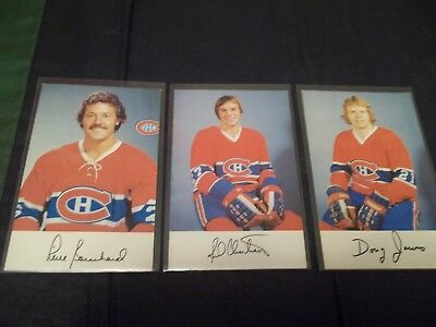 1976-77 Montreal Canadiens Team Issue Postcard (you choose from list)