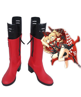 Fate Grand Order Joan of Arc Jeanne d'Arc Cosplay Boots Shoes Custom Made