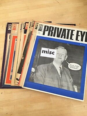 Small Collection - Twelve Early Copies Of Private Eye `````