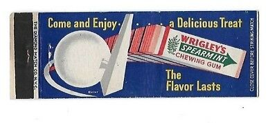 Vintage Matchbook Cover WRIGLEY'S SPEARMINT GUM New York World's Fair #111