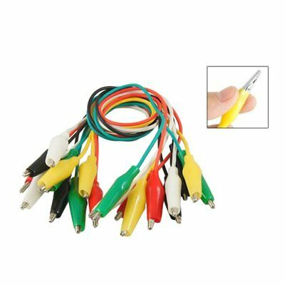 """10 Pcs Meter Colored Insulating Alligator C Test Lead Cable 10.8"""" F2R4"""