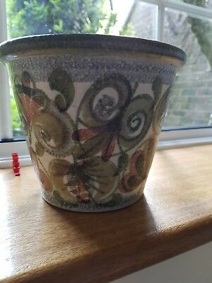 Denby Glyn College Vintage hand painted planter
