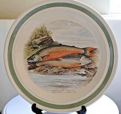 "PORTMEIRION The Compleat Angler ~ Round Dinner Plate ~ 10.25"" ~ Alpine Char"