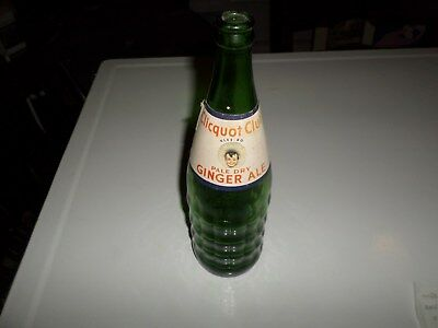 Clicquot Club Pale Dry Ginger Ale Glass Beverage 30 Label Lebanon PA Ribs Green