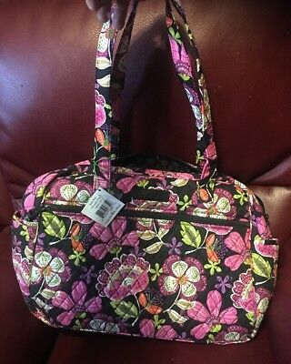 NWT Vera Bradley PIROUETTE PINK diaper Baby Bag Tote Carry On Retail $99
